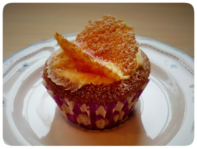 Single butterfly cupcake