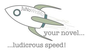 JuNoWriMo 2015 rocket graphic