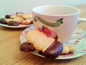 Viennese finger biscuits cookies