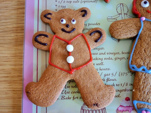 Gingerbread bear decorated with icing