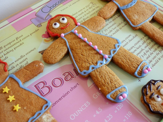 Gingerbread woman decorated with icing