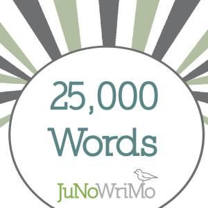 JuNoWriMo 2015 25000 words milestone button graphic
