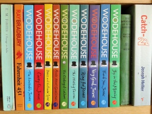 Wodehouse Jeeves and Wooster book collection bookshelf