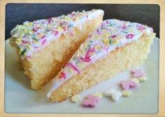 Charlie's sponge cake finished photo