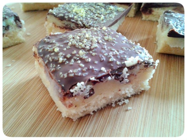 Millionaire's shortbread close up 2