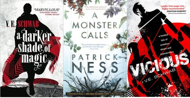 Book covers ADSOM Vicious A Monster Calls