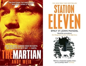 The Martian and Station Eleven book covers