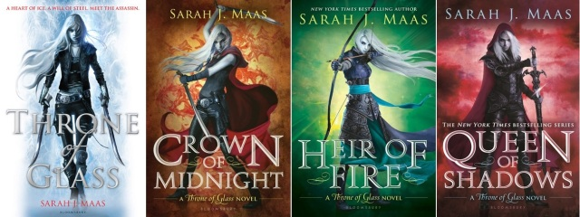 Throne of Glass series books 1 to 4 by Sarah J Maas