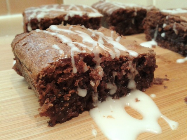 After Eight mint chocolate brownies 1