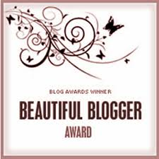 Beautiful Blogger Award badge pink