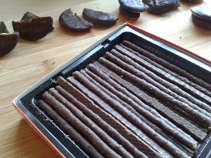 Chocolate matchsticks