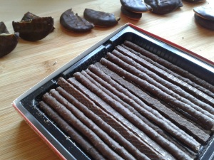 Chocolate matchsticks