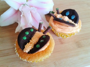 Chocolate orange butterfly cakes