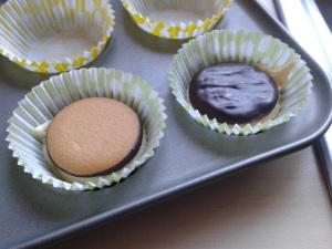Jaffa cakes in cup cakes