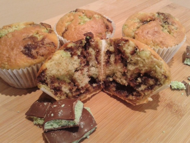 Mint chocolate muffins 6