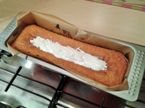 Yoghurt cake yogurt cake with marshmallow filling