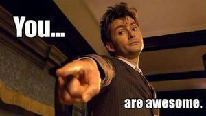 you are awesome doctor who gif