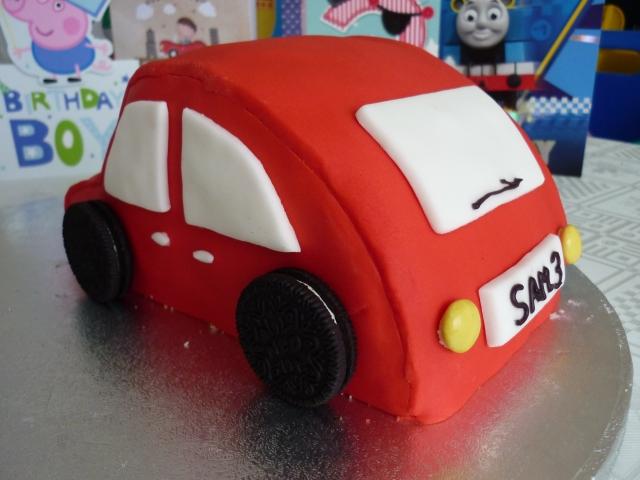 Kid's car birthday cake 4