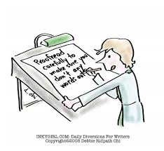 Proofreading missing words typos cartoon