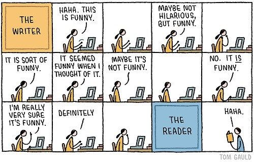 The writer funny by Tom Gauld cartoon writing problems