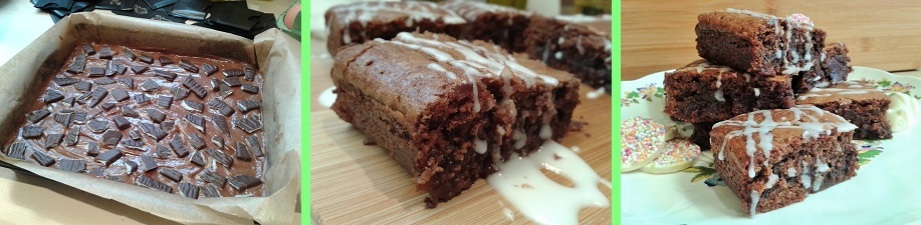 After Eight mint chocolate brownies