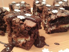 Chocolate cheesecake brownies photo