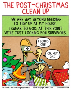 Christmas clean up from Fowl Language Comics