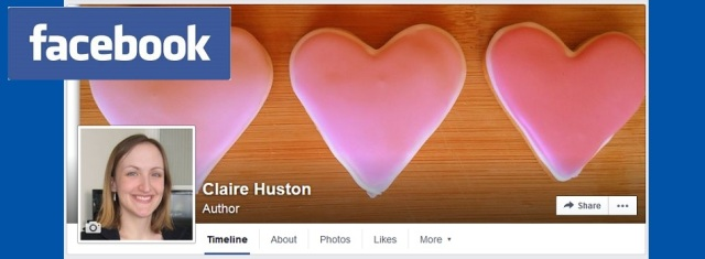 Claire Huston author Facebook page and pinterest