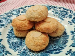 Coconut and almond macaroons perfect with tea