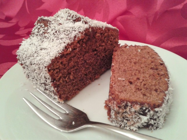Lamington chocolate coconut cake a great alternative to yule log 1 (2)