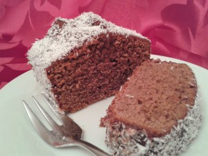 Lamington chocolate coconut cake a great alternative to yule log 2 (2)