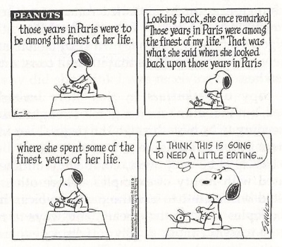 Peanuts Snoopy Editing and writing cartoon