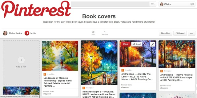 Pinterest Claire Huston book covers board