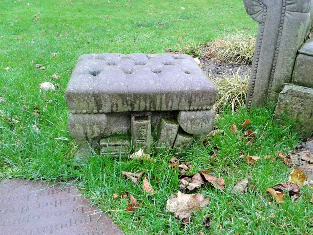 Rugby stone armchair bench sculpture 3