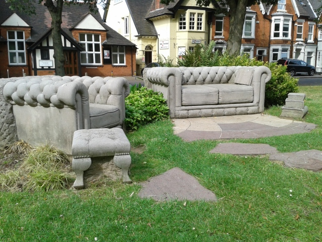 Rugby stone sofa with books 2