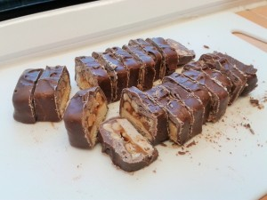 Chopped snickers bar