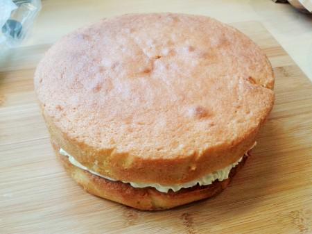 Chocolate finger cake sandwich