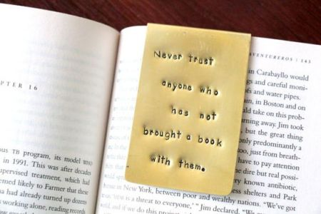 never trust anyone who hasn't brought a book with them bookmark