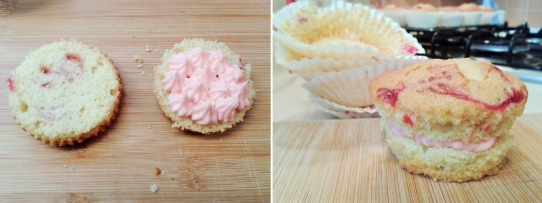 Raspberry ripple cupcakes with raspberry buttercream how to fill 2