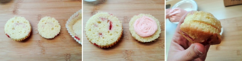Raspberry ripple cupcakes with raspberry buttercream how to fill