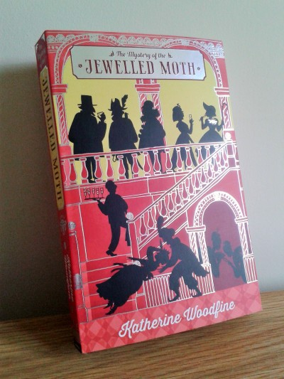 The Mystery of the Jewelled Moth by Katherine Woodfine and illustrated by Julia Sarda book cover photo