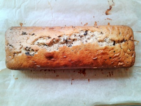 how to make stracciatella cake chocolate chip loaf cake freshly baked 2