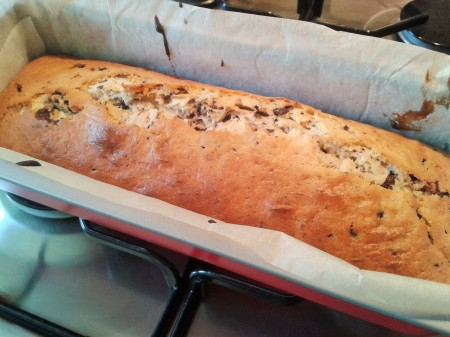 how to make stracciatella cake chocolate chip loaf cake freshly baked
