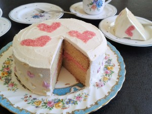 White chocolate layer cake with raspberry buttercream filling easy to slice ideal party cake 4