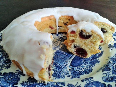 Cherry cake recipe sponge cake with glace cherries and white icing
