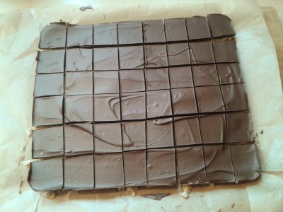 How to make chocolate peanut butter square recipe with milk chocolate