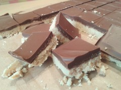 How to make chocolate peanut butter squares like Reese's pieces