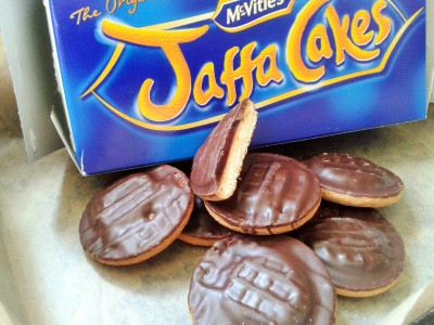 What Jaffa cakes look like for chocolate orange brownies