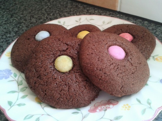 Chocolate toffee and smartie melts biscuit recipe cookies 2
