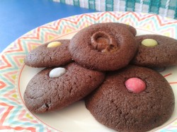 Chocolate toffee and smartie melts biscuit recipe cookies for kids